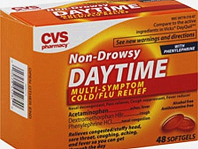 CVS Non-Drowsy Daytime Multi-Symptom ColdFlu Relief Softgels