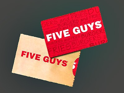 www.fiveguys.com/survey Win $25 Five Guys Burgers and Fries Gift Cards Monthly Sweepstakes