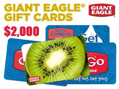 Win 1 out of the 12 Giant Eagle Store Gift Cards