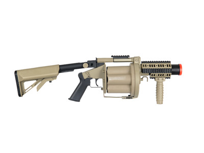 ICS GLM Airsoft Grenade Launcher Tan 191