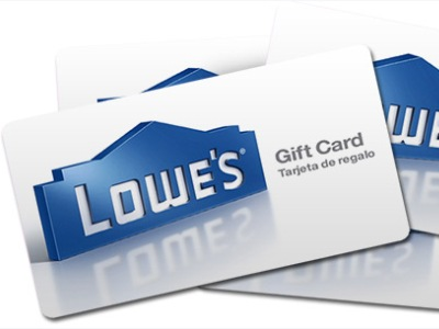 Sweepstakes: $2,000 Lowe's Gift Card
