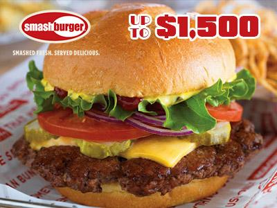 Win Up To $1,500 In Smashburger Customer Experience Survey Sweepstakes