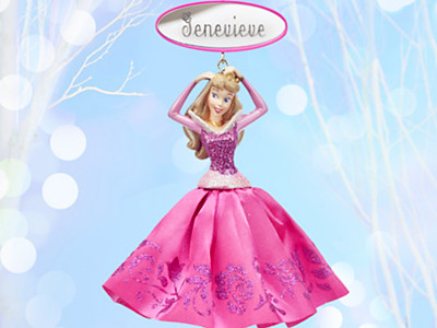 Aurora Sketchbook Ornament - Sleeping Beauty