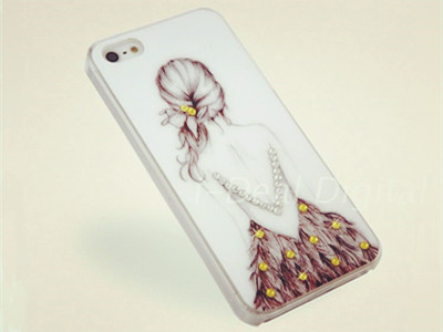 Fashion Painted Plastic Crust Cell Phone Case For iPhone 4s 4 F