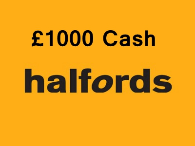 Sweepstakes: Win Daily Prize Of £1000 With Halfords Customer Experience Survey Sweepstakes