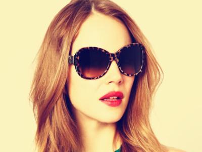 Leopard Heart Chain Sunglasses