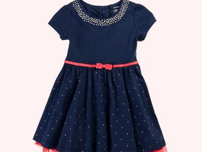 Little Girls' Dot Party Dress