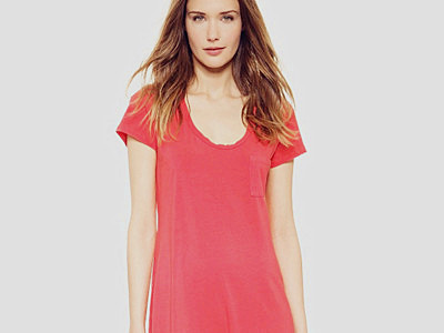 Silence + Noise Gathered Front Tee Dress