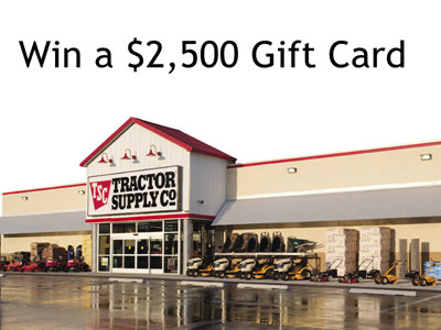 www.tractorsupplysurvey.com Enter Tractor Supply Company Monthly Sweepstakes To Win A $2,500 Gift Card