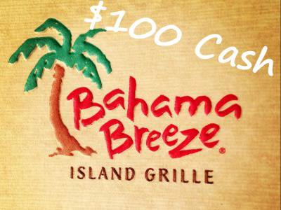 Sweepstakes: Win $1000 Cash In The Bahama Breeze Guest Satisfaction Survey