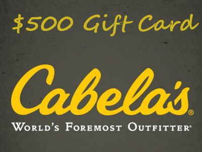 Sweepstakes: www.cabelas.com/retailsurvey - Cabela's Is Giving Away A $500 Cabelas Gift Card Every Month
