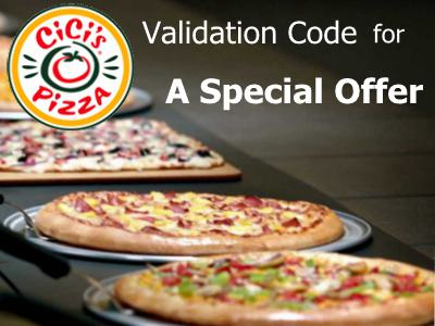 Redeem A Special Offer With The Validation Code From Cici's Pizza Guest Experience Survey