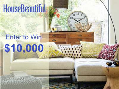 Make Over Your House With $10,000 From House Beautiful Save The Day Sweepstakes