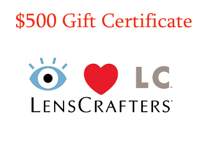 Sweepstkaes: Win A $500 Gift Certificate Valued In The LensCrafters Experience Survey Sweepstakes