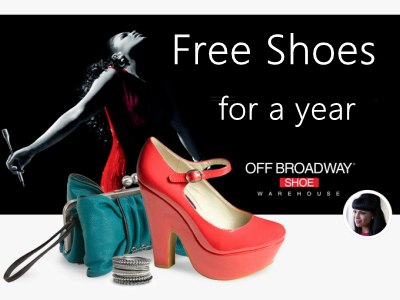 Sweepstakes: Win Up To $600 Of Coupon In The Off Broadway Shoes Free Shoes For A Year Sweepstakes