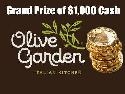 Sweepstakes: Take Your Chance In The Olive Garden Guest Survey To Win $1,000 Cash