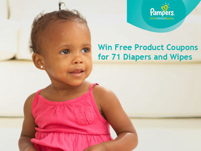 en.pampersrewards.pampers.com/diapers-wipes-sweepstakes Win Free Product Coupons For 71 Pampers Diapers And Wipes Each Month In The Pampers Diapers And Wipes Sweepstakes