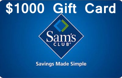 Sweepstakes: Sam's Clusb Is Giving Away $1000 Gift Card In Its Survey Sweepstakes