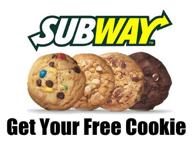 Freebies: Redeem Your Free Cookie From Subway By Taking A Subway Customer Survey