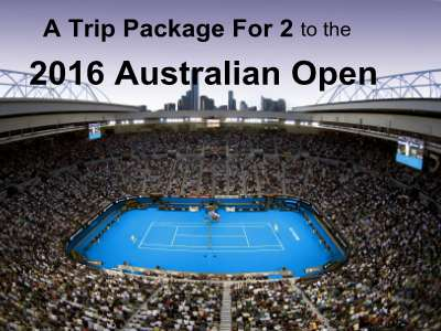 www.tennischannel.com/aussie_sweeps Win A Trip Package For 2 To The 2016 Australian Open From Tennis Channel's Australian Open Sweepstakes