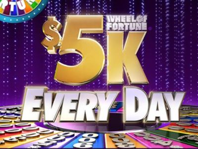 wheeloffortune.com/fivek-every-day Enter Today And Win $5000 From The Wheel Of Fortune
