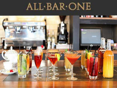 Receive A Voucher Through All Bar One Customer Survey To Enjoy A Free Treat From All Bar One
