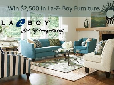 Enter La-Z- Boy Satisfaction and Loyalty Sweepstakes To Win $2,500 In La-Z- Boy Furniture