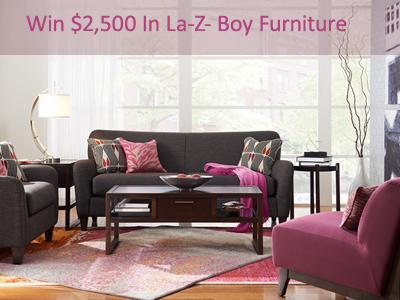 www.lzb-store.com Win $2,500 In La-Z- Boy Furniture Through La-Z- Boy Satisfaction and Loyalty Sweepstakes