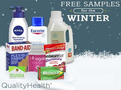 Select Your Free Winter Samples When You Register On QualityHealth.com
