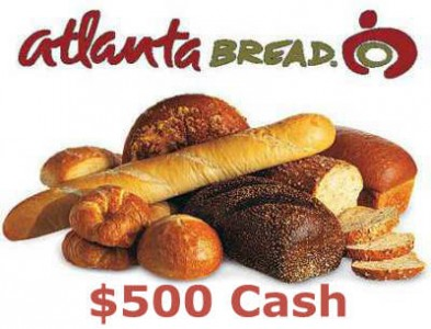 Win $500 Cash In The Atlanta Bread Sweepstakes Through Atlanta Bread Guest Satisfaction Survey