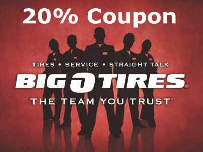 Receive A $20 Coupon Through Big O Tires Guest Survey