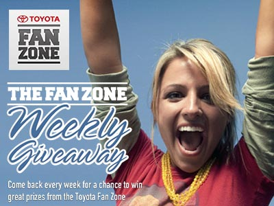 www.facebook.com/toyotafanzone Win Toyota Fan Zone Great Giveaways Every Week On Facebook