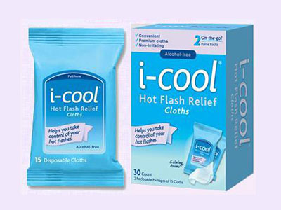 Say Bye To Hot Flash With This Free i-cool Hot Flash Relief Cloth Sample Pack
