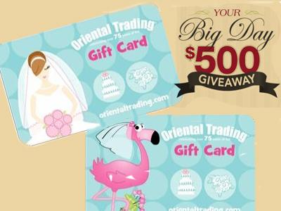 Plan Your Big Day $500 OTC Gift Card Weekly Giveaway