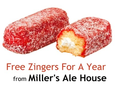 Win Free Supply Of Zingers For A Year In The Miller's Ale House Customer Survey Sweepstakes