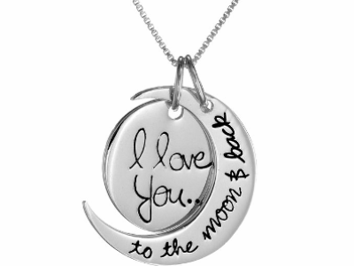 "Save $21 On ""I Love You To The Moon and Back"" Pendant Necklace"