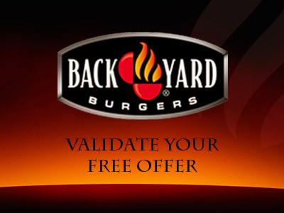 Validate The Free Offer Printed On Your Back Yard Burgers Receipt