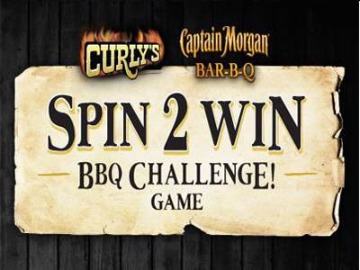 www.curlysspintowin.com Spin To Win Curly's BBQ Challenge Tasty Treasures & Coupons