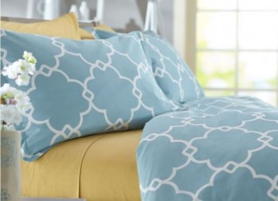 Save 23% On The Pinzon Cotton Lattice Duvet Cover Set