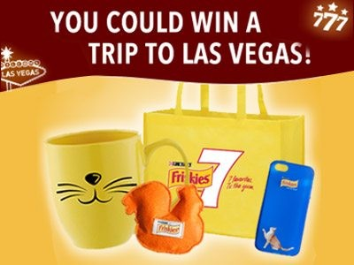 Spin To Win An All-Inclusive Trip To Las Vegas & Receive A Free Purina Friskies 7 Sample