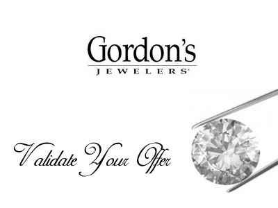 Share Your Feedback To Obtain A Gordon's Jewelers Validation Code
