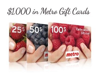 Enter Metro Survey Sweepstakes To Win $1,000 In Metro Gift Cards For Free Groceries