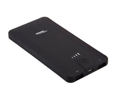 Get 12% Off AmazonBasic Portable External Battery Charger 10,000 mAh