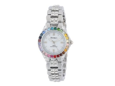 Save 44% On Armitron Multi-Color Swarovski Crystal Accented Bracelet Watch