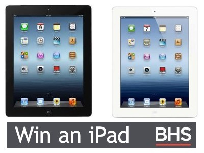 Share Your Reviews To Win A New iPad From BHS Customer Feedback Survey