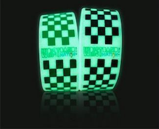 Get Your Free, Stylish Glow-In-The-Dark Checkered Wristband