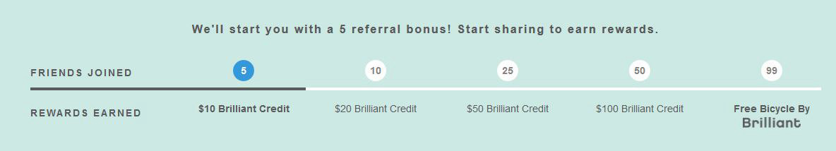 How to earn free Brilliant Credits and bicycle