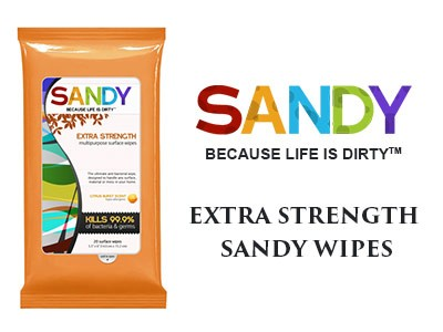 Try Extra Strength Sandy Wipes For Free
