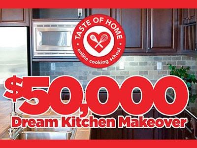 Win Culinary Merchandise Or A Check Worth $50,000 From The Reader's Digest Dream Kitchen Sweepstakes