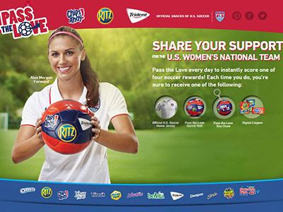 passthelove.com Kick In Your Support For The U.S. Women's National Team To Win The Pass the Love Promotion